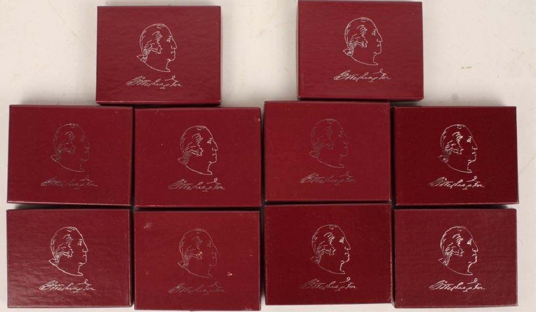 BOX OF 10 U.S. COMMEMORATIVE WASHINGTON HALVES