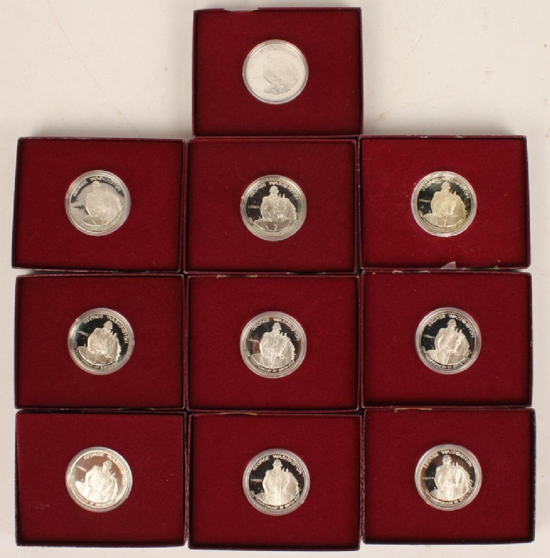 BOX OF 10 U.S. COMMEMORATIVE WASHINGTON HALVES - 4