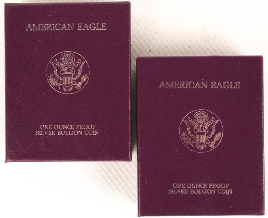 (2) 1986 S UNITED STATES SILVER AMERICAN EAGLES