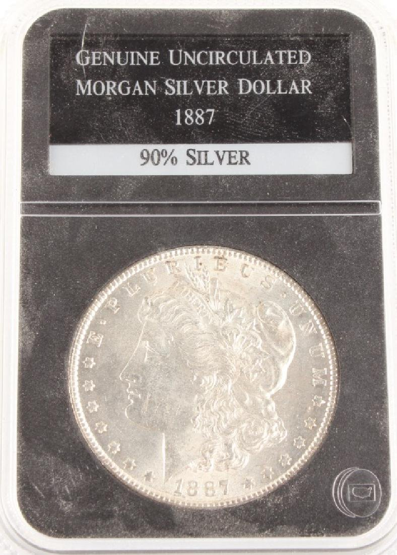 1887 US MORGAN SILVER DOLLAR UNCIRCULATED