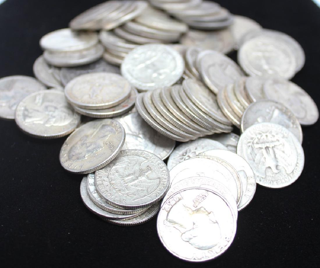 $20.00 FACE VALUE 90% SILVER WASHINGTON QUARTERS
