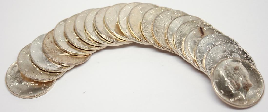 90% SILVER B.U. KENNEDY HALF DOLLAR ROLL