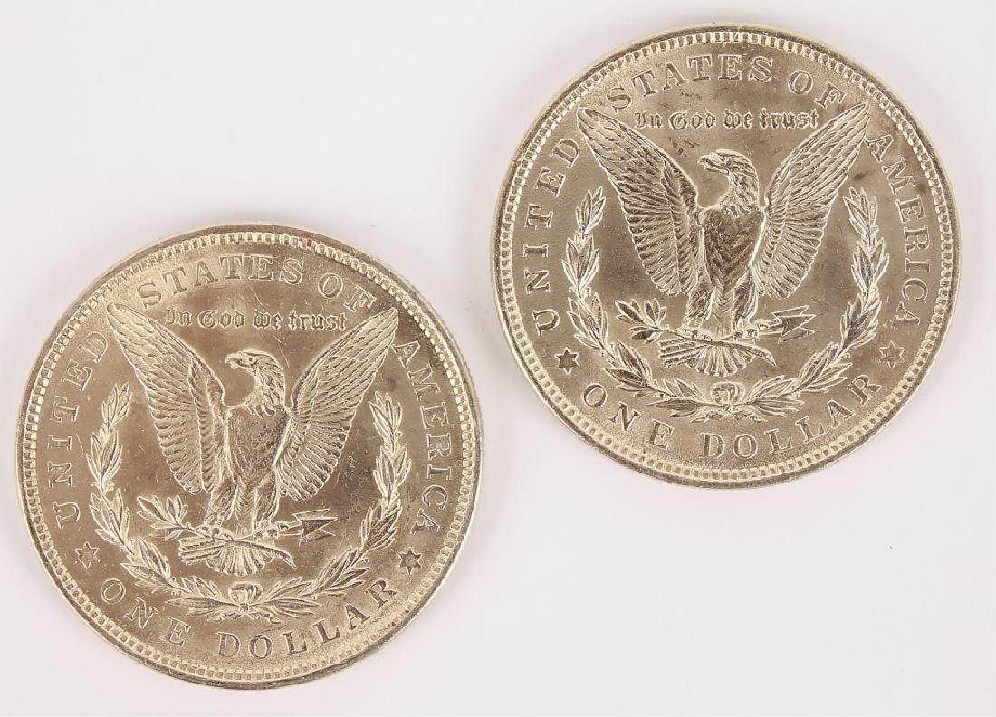 1921 MORGAN SILVER DOLLARS HIGH GRADE - LOT OF 2 - 2