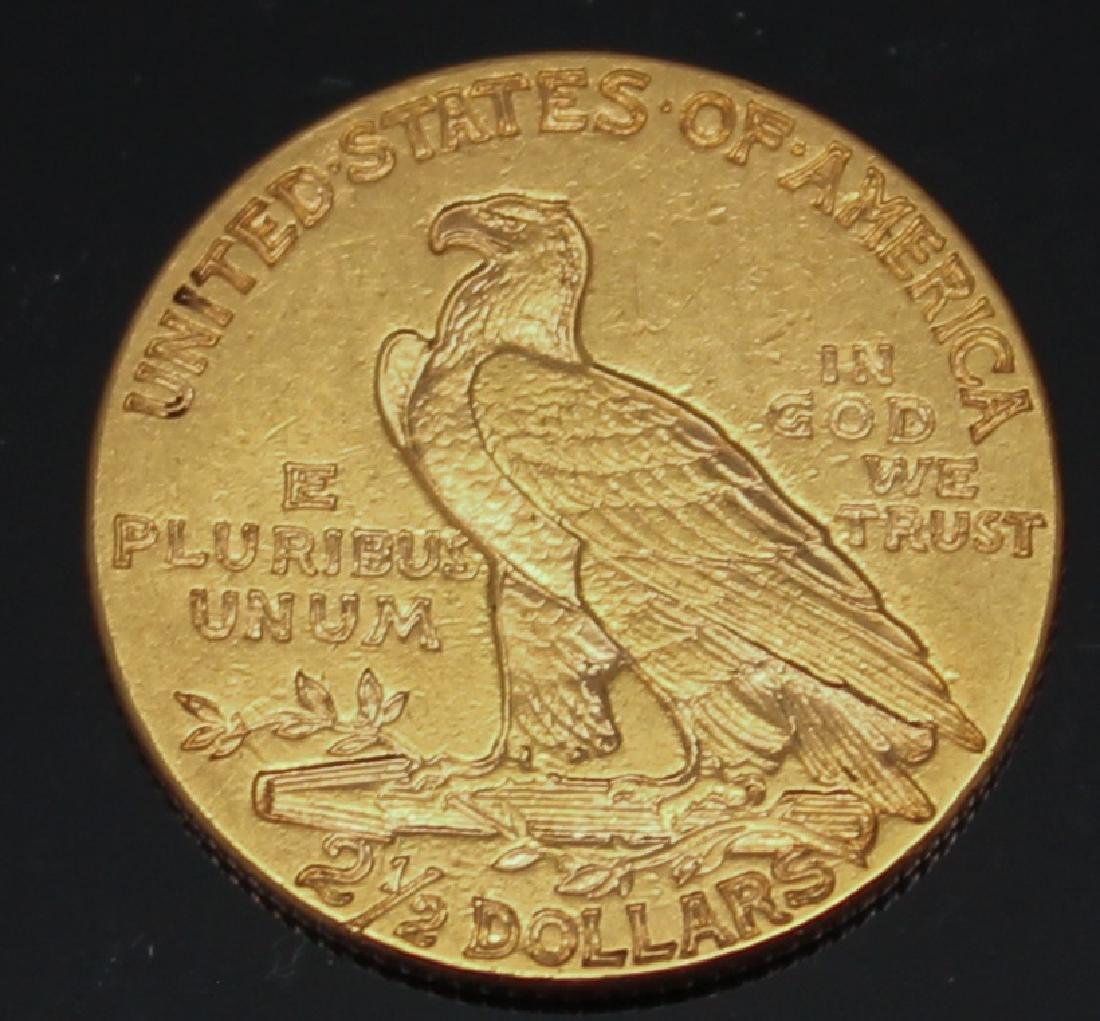 $2.50 U.S. INDIAN GOLD 1915 QUARTER EAGLE - 2