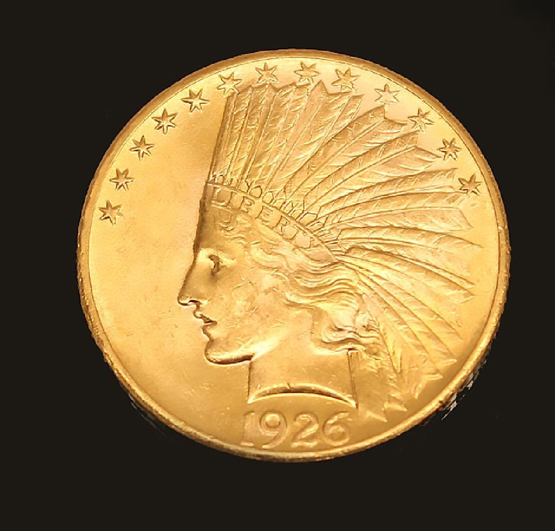 $10.00 U.S. GOLD INDIAN PRINCESS 1926 EAGLE COIN