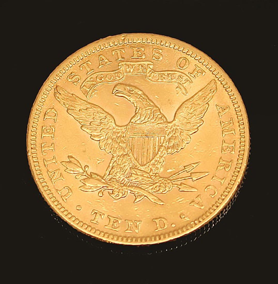 $10.00 U.S. LIBERTY GOLD 1898 EAGLE COIN - 2
