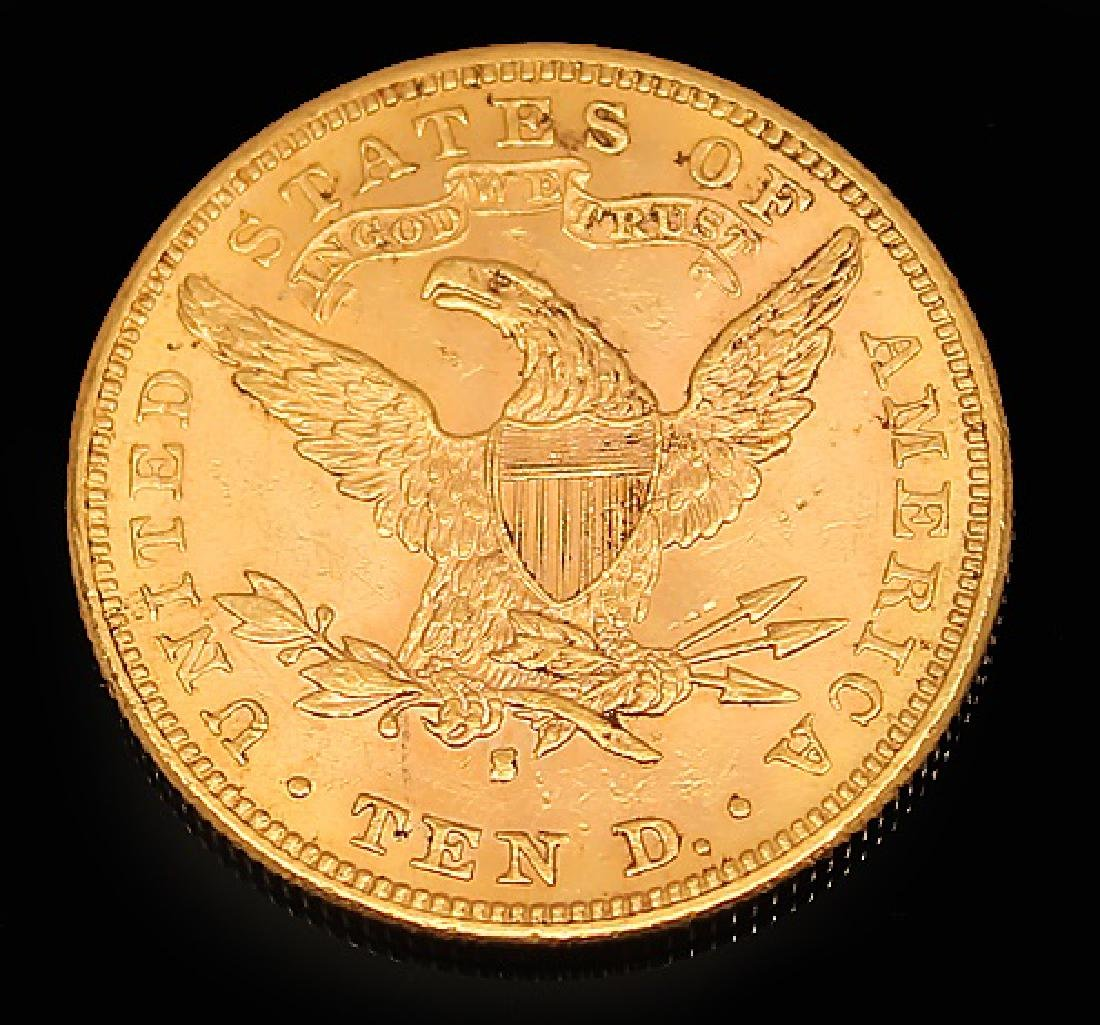 $10.00 U.S. LIBERTY GOLD 1881 S EAGLE COIN - 2