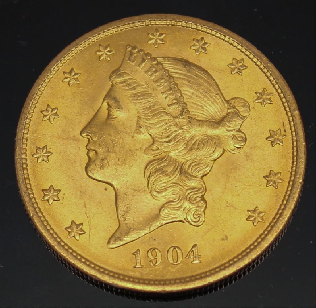 $20.00 LIBERTY GOLD 1904 DOUBLE EAGLE