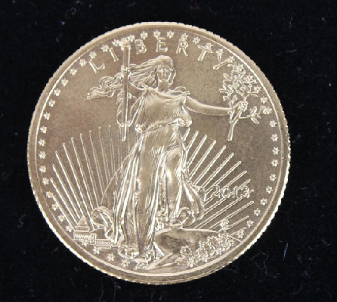 GOLD AMERICAN EAGLE $10 1/4 OZ