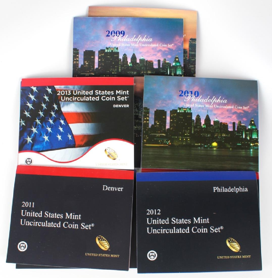 2009 - 2013 UNITED STATES MINT UNCIRCULATED SETS - 3