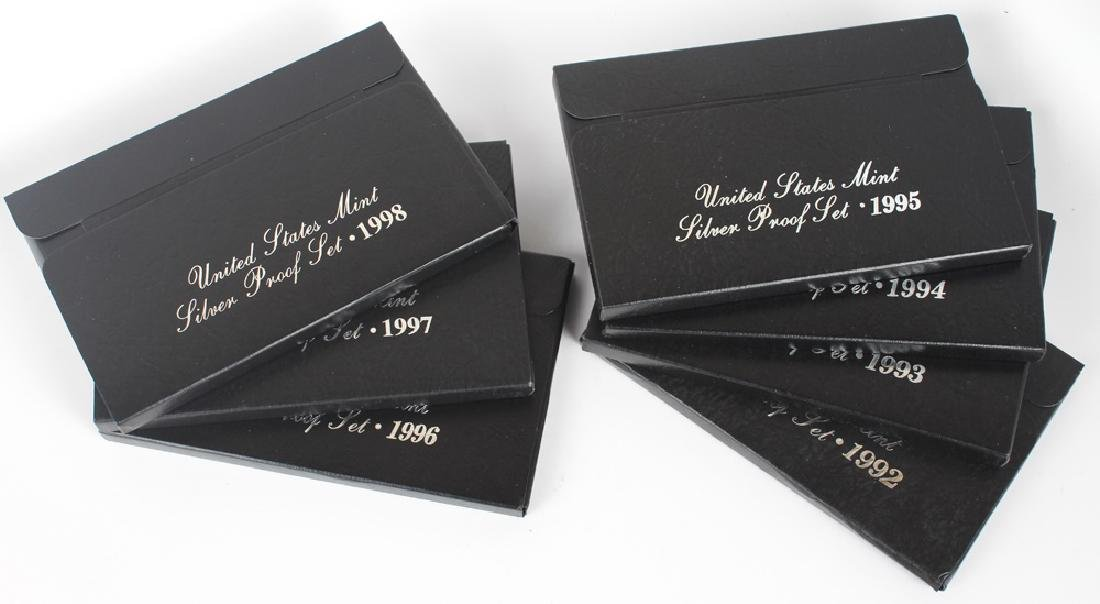 1992 - 1998 UNITED STATES MINT SILVER PROOF SETS