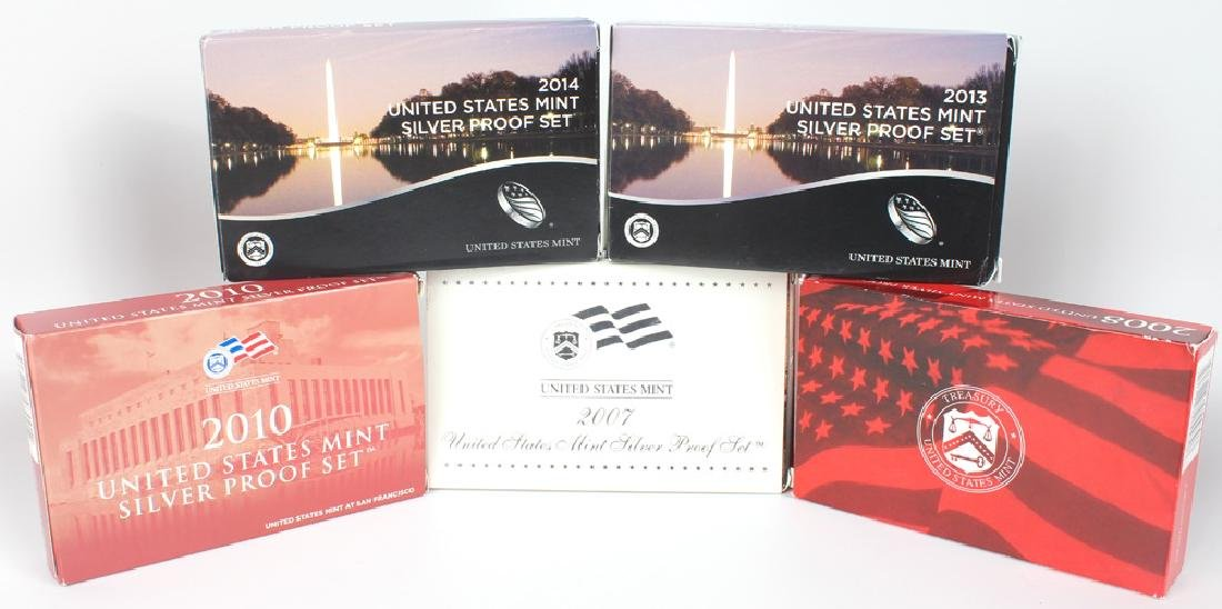 MIXED UNITED STATES MINT SILVER PROOF SETS