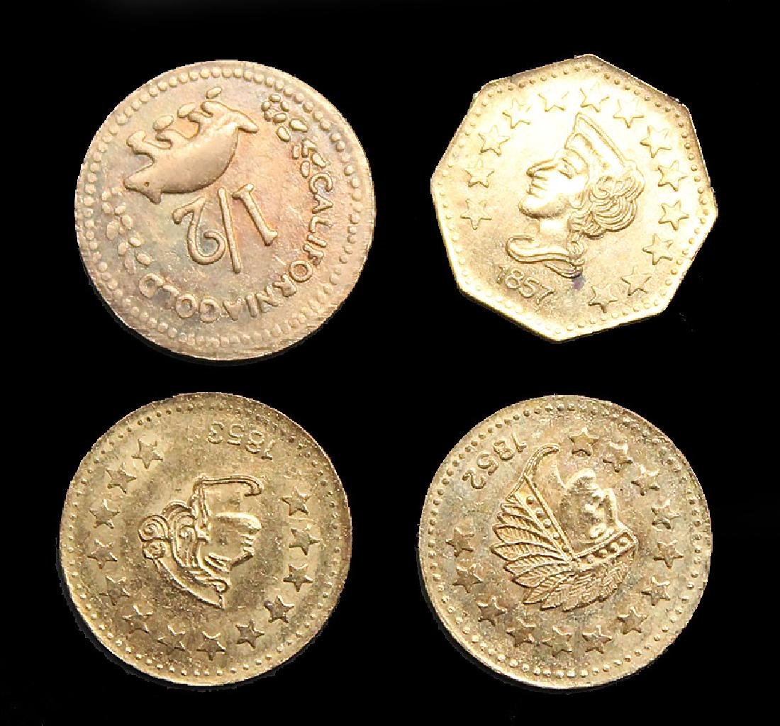 LOT OF 4 COPY CALIFORNIA FRACTION GOLD PIECES