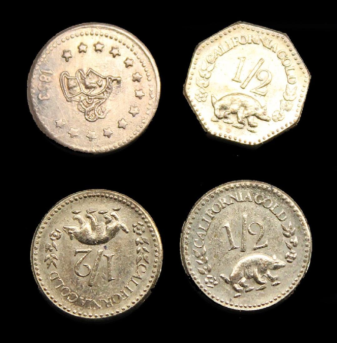 LOT OF 4 COPY CALIFORNIA FRACTION GOLD PIECES - 2