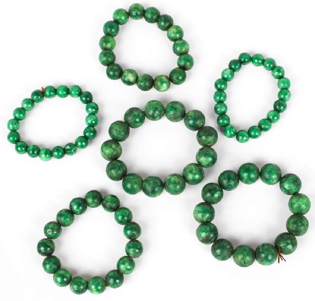 NEPHRITE BEADED BRACELETS