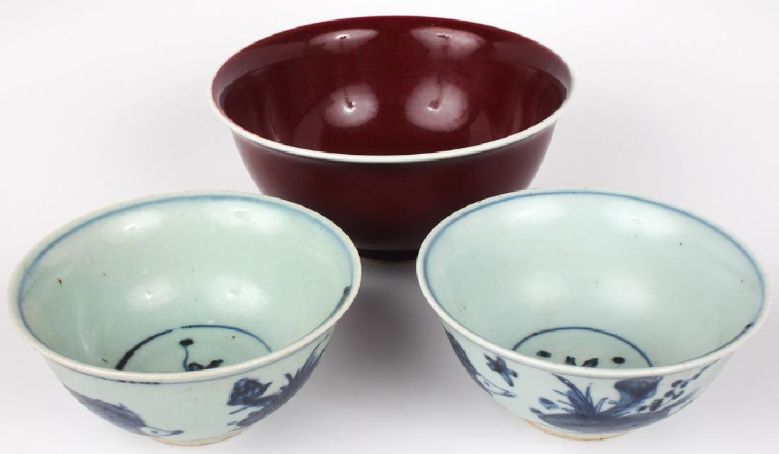 CHINESE PORCELAIN BOWLS - LOT OF 3