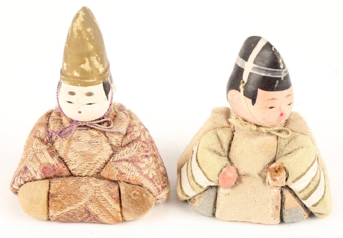 PAIR JAPANESE KIMEKOMI DOLLS KAZARI EBOSHI HATS