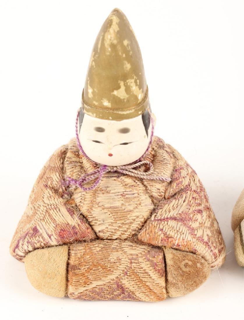 PAIR JAPANESE KIMEKOMI DOLLS KAZARI EBOSHI HATS - 2