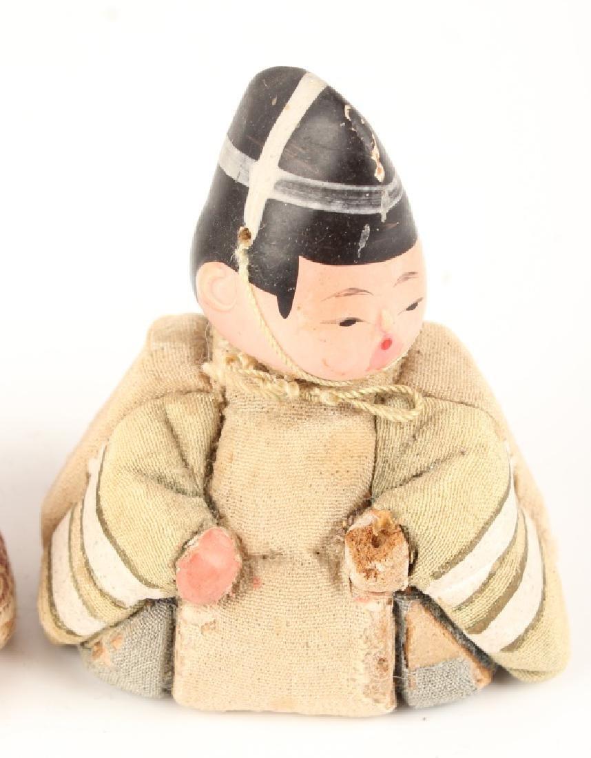 PAIR JAPANESE KIMEKOMI DOLLS KAZARI EBOSHI HATS - 3