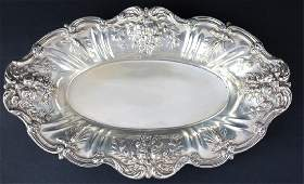 REED & BARTON FRANCIS I STERLING FOOTED BREAD TRAY