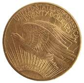 $20.00 UNITED STATES 1924 ST. GAUDENS GOLD COIN