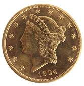 $20.00 UNITED STATES 1904 LIBERTY HEAD GOLD COIN