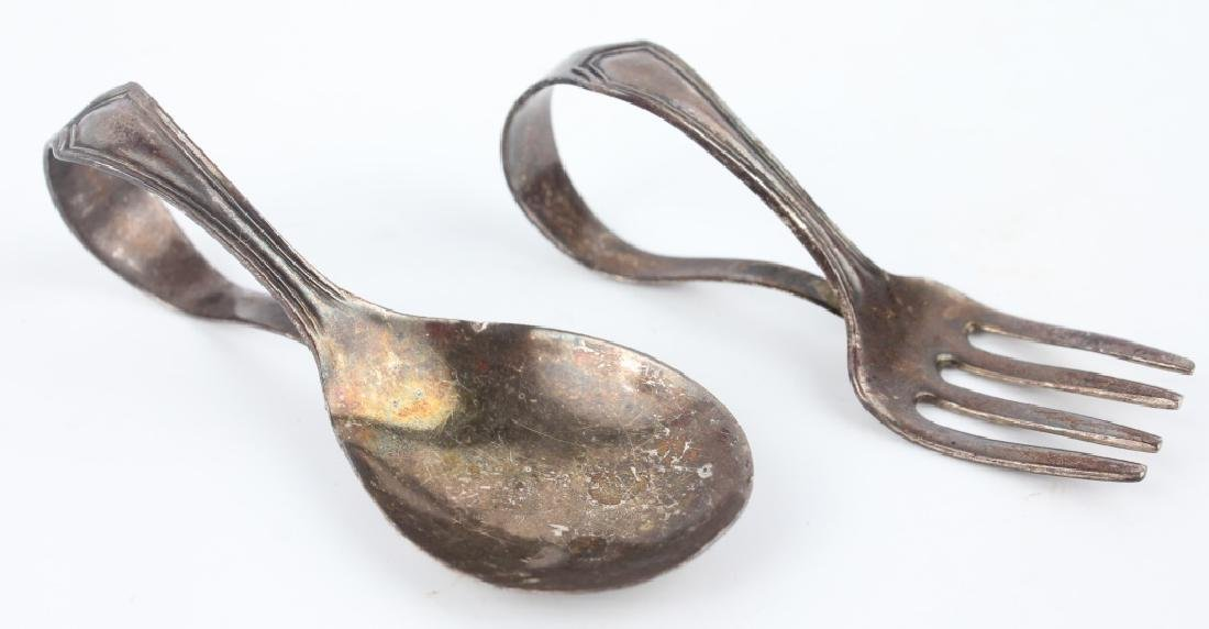 STERLING SILVER BABY SPOON & BABY FORK