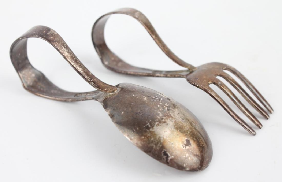 STERLING SILVER BABY SPOON & BABY FORK - 2