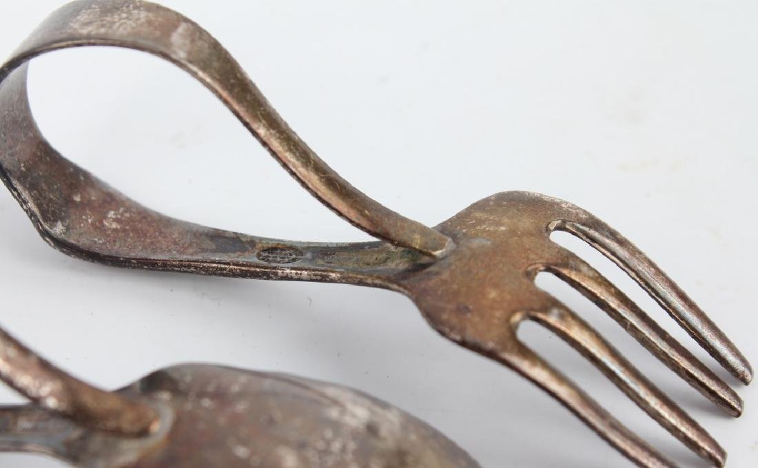 STERLING SILVER BABY SPOON & BABY FORK - 3