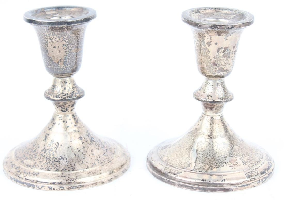 PAIR OF TOWLE STERLING WEIGHTED CANDLESTICKS