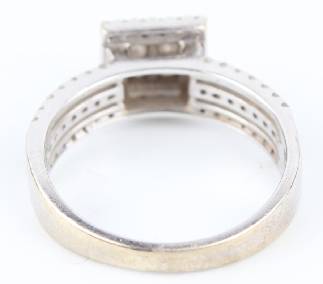 10K WHITE GOLD DIAMOND CLUSTER RING - 4