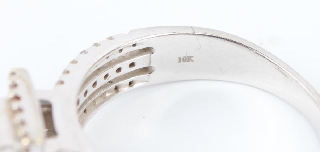 10K WHITE GOLD DIAMOND CLUSTER RING - 5