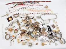 5LBS LADIES  MENS COSTUME JEWELRY WATCHES ETC