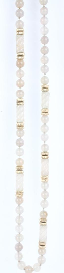 ROSE QUARTZ BEADED NECKLACE - 3
