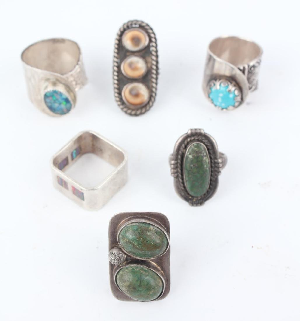 STERLING SILVER RINGS - LOT OF 6
