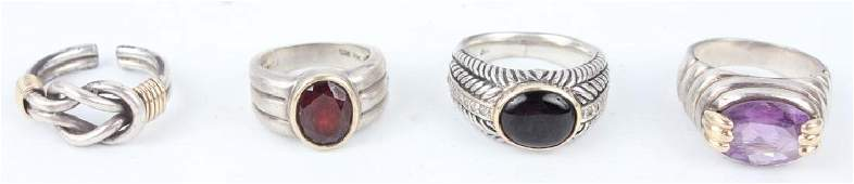 STERLING SILVER JEWELRY WITH GOLD ACCENTS