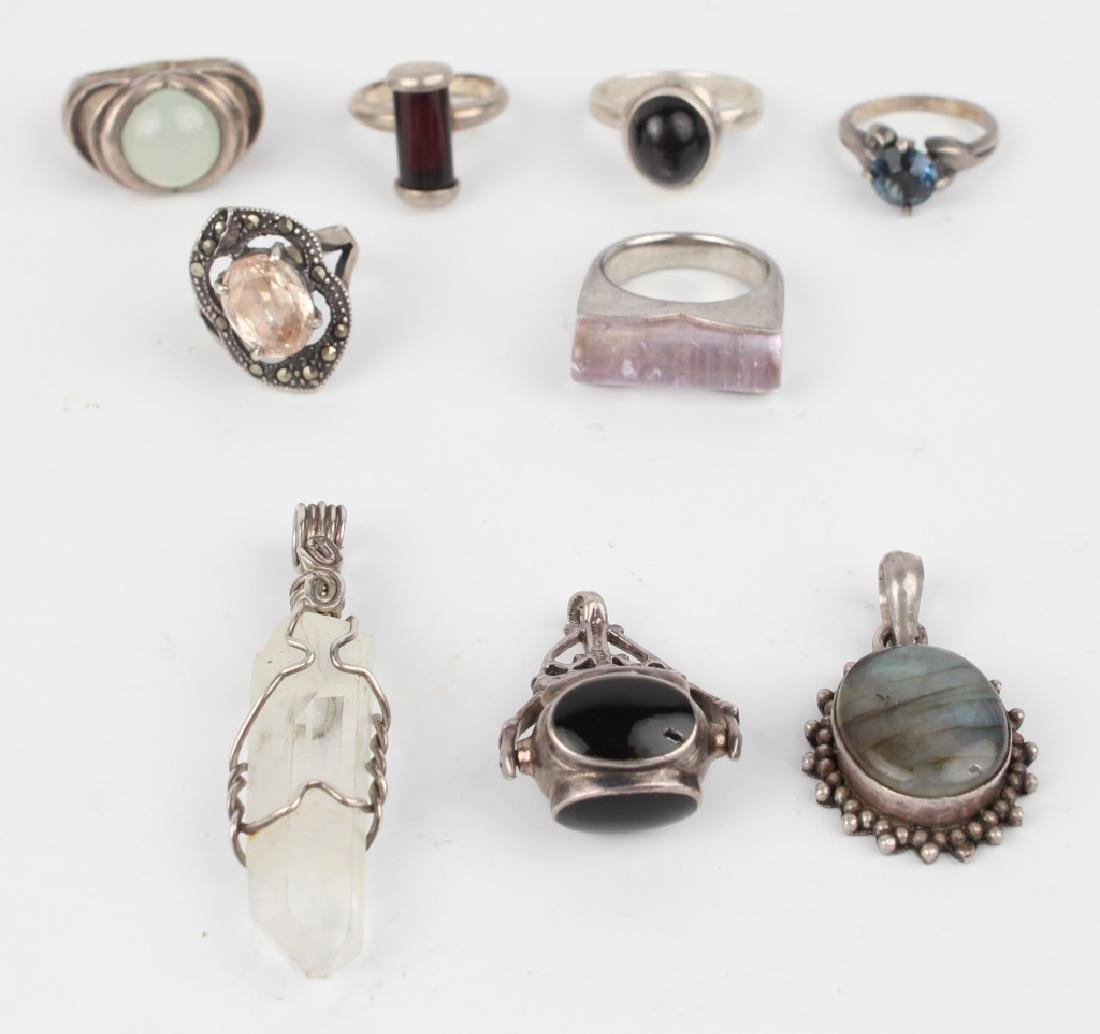 STERLING SILVER JEWELRY - LOT OF 9