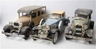 JIM BEAM VINTAGE CAR DECANTERS SET OF 3