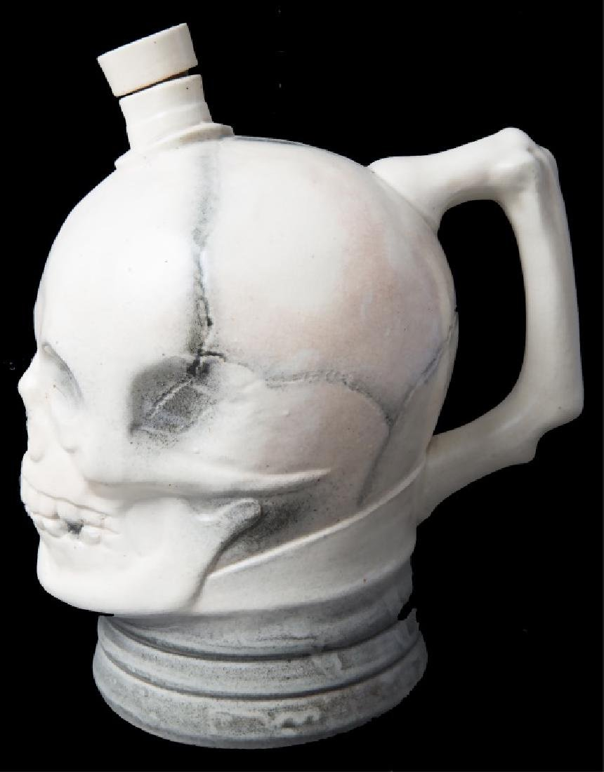 SWISS SKULL DRINKING CONTAINER WIND UP MUSIC BOX - 2