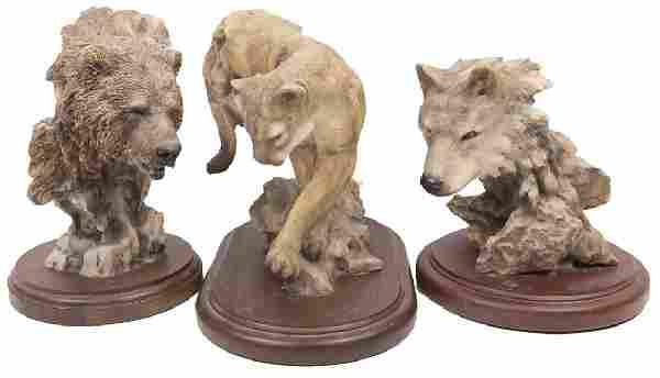 BEAR, WOLF, & COUGAR STATUES BY MILL CREEK STUDIOS