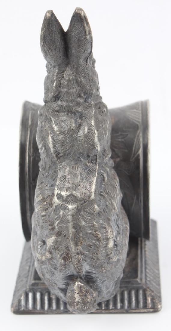 QUADRUPLE SILVER PLATED RABBIT NAPKIN RING - 3