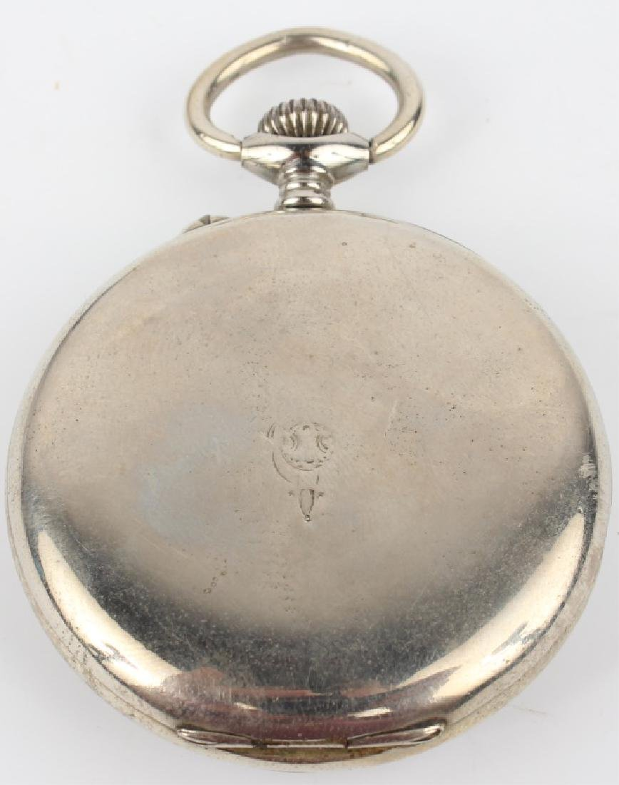 POCKET WATCH WITH NICKEL CASE - 2
