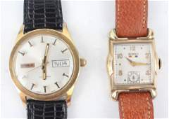 TWO MEN'S BENRUS GOLD FILLED WRISTWATCHES