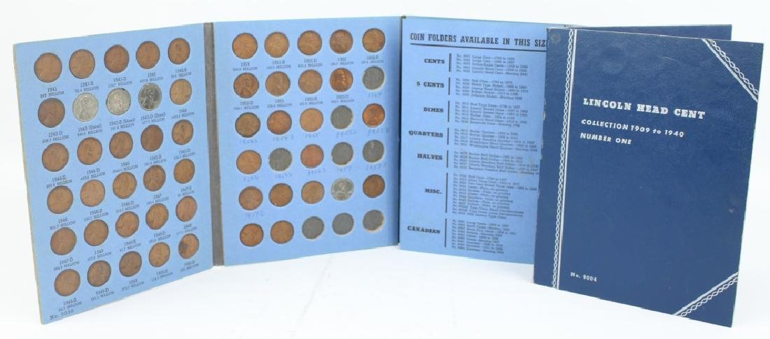 LINCOLN HEAD CENT COLLECTOR BOOKS - LOT OF 2