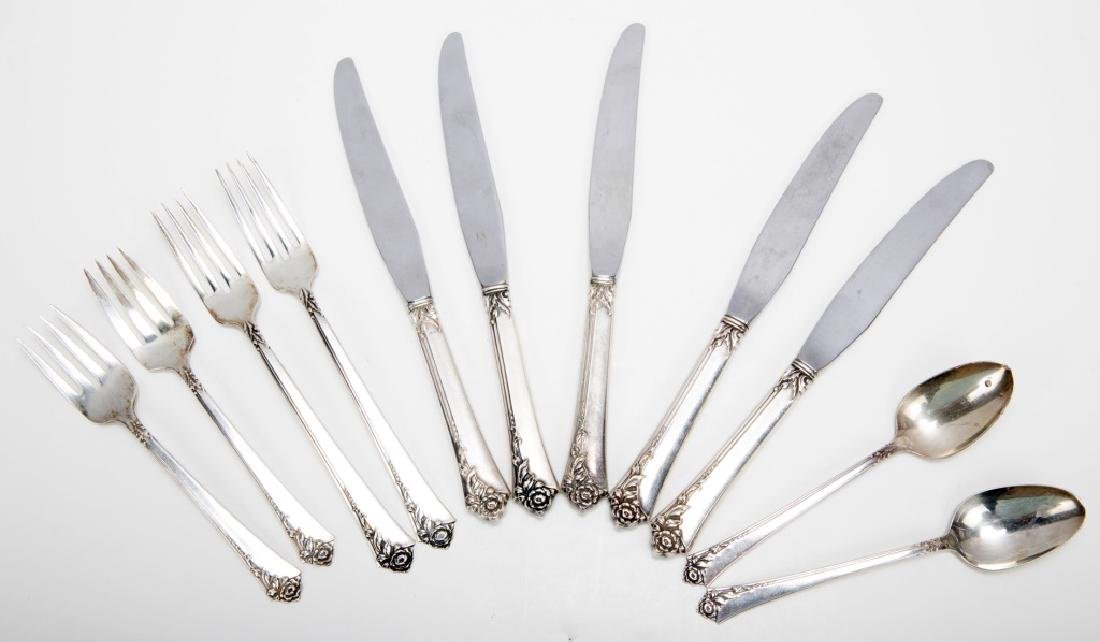 HEIRLOOM STERLING SILVER DAMASK ROSE FLATWARE