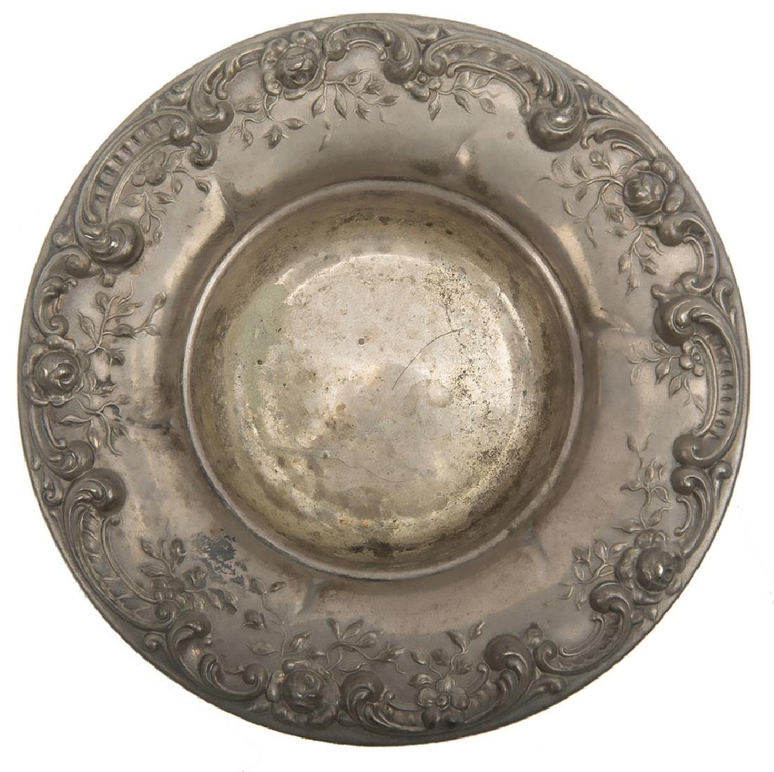 ALVIN STERLING SILVER ROSE MOTIF BOWL