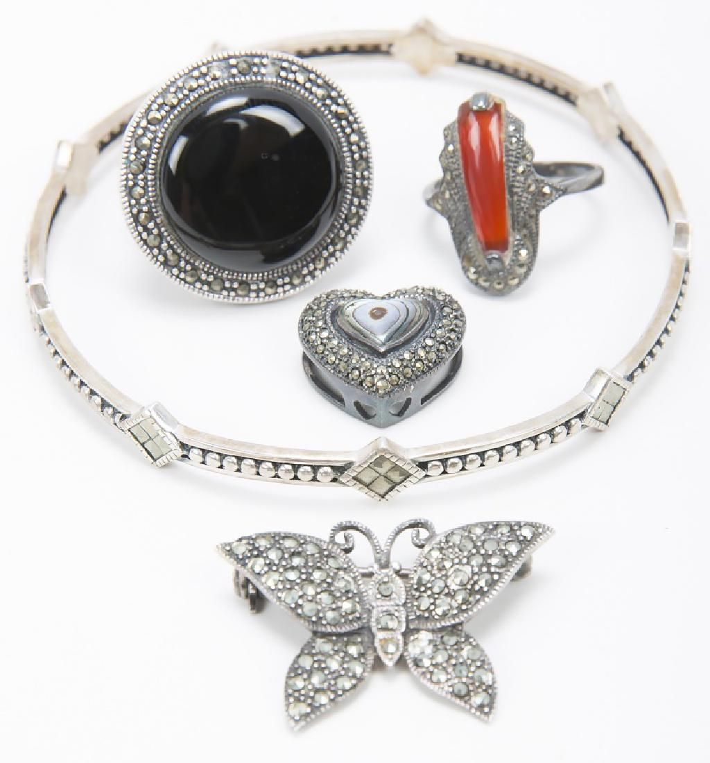 LADIES STERLING SILVER MARCASITE JEWELRY