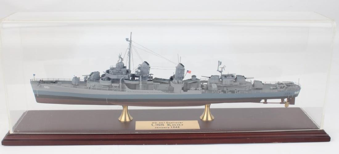 VINTAGE SCALE MODEL DESTROYER DD-661 USS KIDD