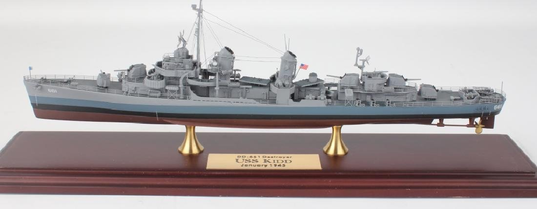 VINTAGE SCALE MODEL DESTROYER DD-661 USS KIDD - 2