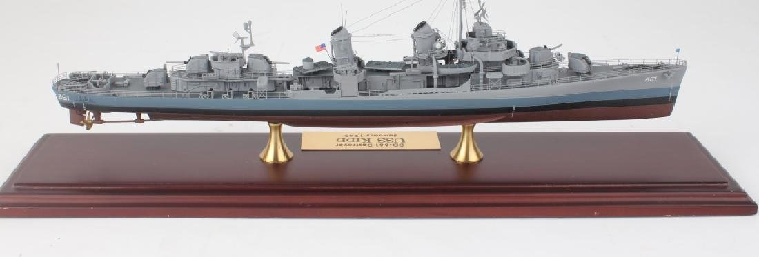 VINTAGE SCALE MODEL DESTROYER DD-661 USS KIDD - 4